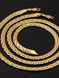 Jewelry-Necklaces / Bracelets & Bangles(Gold Plated)Wedding / Party / Daily / Casual / Sports Wedding Gifts