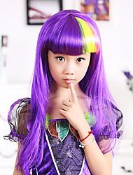 Goddess Athena Purple Long 60cm Kids' Halloween Party Wig