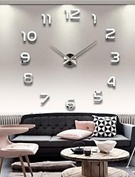 Акриловые зеркальные клеившихся настенные часы