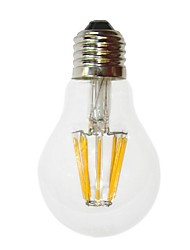 6W E26/E27 LED Filament Bulbs G60 6 COB 700 lm Warm White Decorative AC 220-240 V
