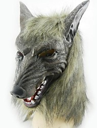 loup gris masque en latex pour Halloween Party (1 pc)