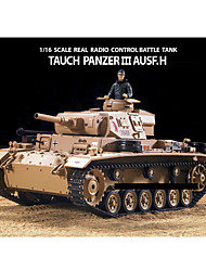 Heng Long 1/16 Echelle TauchPanzer III Ausf.H Real Radio Remote Control RC Battle Tank