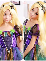 Sweet Princess Golden Long 60cm Kids' Halloween Party Wig