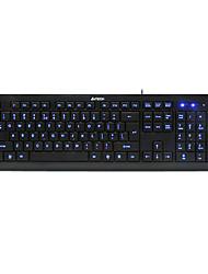 shuangfeiyan KD-600l includono tastiera&spazzola della tastiera ultrasottile di gioco fissato la tastiera usb luminosa