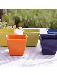 criativo xícara de cerâmica cozida xícara de bicarbonato quadrado de cor aleatória, 6.4x6.4x6cm