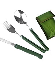 Multi-functional Foldable Flatware Set for Outdoor Picnic ,3 pcs/Set