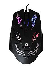 YAFOX G30 Gaming Notebook Wired Mouse with Molorful Lights Generic Desktop Computer USB Port 800-1000-1600DPI