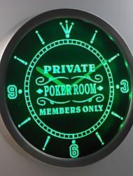 nc0455 membro sala de poker privado só sinal de néon bar de cerveja levou relógio de parede