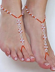 Women's Pearl Beads Handmade Beaded Mittens Anklets