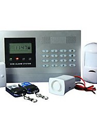LCD display Wired and Wireless Zone Gsm Intelligent Alarm System