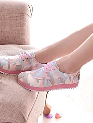 Women's Shoes Round Toe Low Heel Canvas Fashion Sneakers Shoes More Colors available