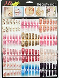 500  Natural Color Half  False Acrylic Nail Art Tips(50PCSx10 Sizes Mixed)