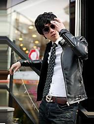 MANWAN WALK®Men's Fashion Slim Fit PU Leather Jacket