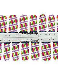 14pcs mode punk multicolor candy kleur 3d nail art stickers