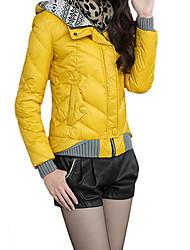 Coreia do revestimento das mulheres dm engrossar casaco de algodão elegante