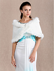 Wedding  Wraps / Fur Wraps Shrugs Sleeveless Feather/Fur Ivory Wedding Clasp