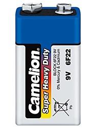 batterie caméléon super lourd devoir de 9v dans une boîte en plastique de 6 pièces