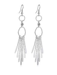 Women's Retro Vintage Alloy silvery  Long Bohemian Pierced Earrings