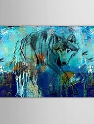 iarts®hand роспись маслом животных волк в поисках пищи с протянутой кадр