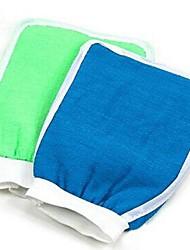 увлажняющий спа ванне очистки ванны отшелушивающие перчатки для душа (случайный цвет)