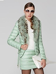 OSA ® Women's Winter Fur Collar Two Piece Set Solid Color  Down Coat Outerwear