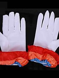 clown joyeux garniture colorée gants blancs Halloween accessoire