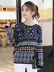 Women's A New Geometric Designs Loose Sweaters