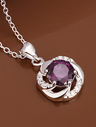 Flower Women's Korean-style High Quality Fashion Inlaid Zircon Silver Necklace