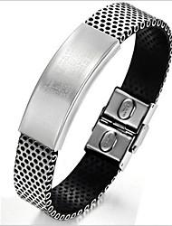 z&bracelets de surface lisse en acier x® de titane de la personnalité de la mode