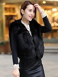 nuovo cappotto della maglia della pelliccia di volpe di modo delle donne
