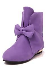 botines zapatos de moda de tacón de cuña de las mujeres con bowknot más colores disponibles