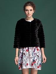 Zijindiao® Women's Genuine Mink Fur Coat