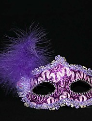 Halloween Leather and Feather Decorated Halloween Mask 3pcs/ Pack