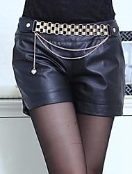 bodycon moda pantalones de cuero sexy de las mujeres