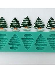 Natal árvore fondant ferramentas bolo de chocolate bolo de silicone molde de decoração, l14.5cm * w4.3cm * h1cm