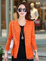 arco moda impressão bainha de renda manga longa casaco de lã das mulheres