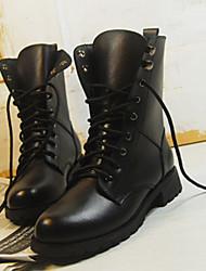Vinda Women's Shoes Black Chunky Heel 3-6cm Boots