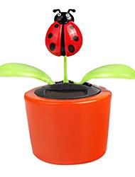 Colorful Solar Ladybug Dancing Flip Flap Decorations(Random Color)