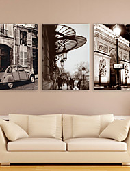 Trasferimenti su tela Art Landscape Città Tempo libero Set di 3