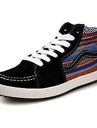 Les chaussures pour hommes à bout rond talon plat haute espadrilles de l'aide de mode de toile chaussures plus de couleurs disponibles