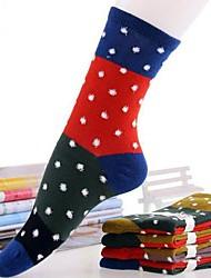 Moda meias de algodão quente de 5pairs mulheres (cor aleatória de colocação)