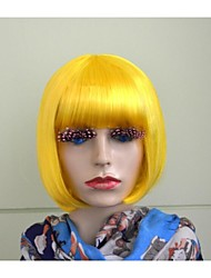 Party Wig Bob Colorful Synthetic Short Sexy Wig With Full Bang For Ladies