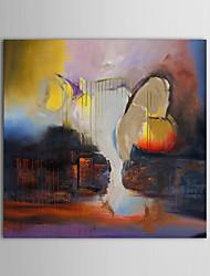 peinture à l'huile peinte à la main abstraite les torrents de montagne avec cadre étiré