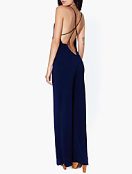 Haoduoyi sottile allentato backless tuta