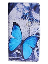 Для Кейс для HTC Бумажник для карт / Кошелек / со стендом / Флип Кейс для Чехол Кейс для Бабочка Твердый Искусственная кожа HTC