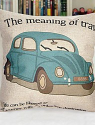 18 * carro de algodão quadrado / linha de cobertura decorativa travesseiro com a inserção