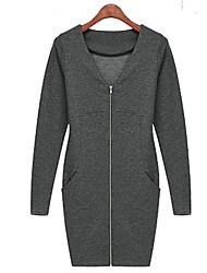 défilé de mode mince robe zippe des femmes (plus de couleurs)