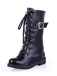 Women's Shoes Round Toe Low Heel Mid-Calf Boots with Lace-up More Colors available