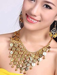 Women's Fashion Tassel Coins Jewelry Sets Including Necklace&Earring