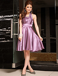 Women's Fashion Strapless Slim Bridesmaid Wedding Party Dress